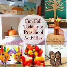Fun Fall Toddler and Preschool Activities