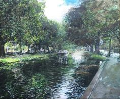 Gallery: Scenes - Paint for Me Grand Canal, House Painting, Dublin, Trees, Scene, Landscape, Portrait, Gallery, Water