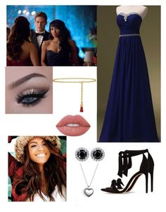"""""""Kat Graham /Bonny Vampire Diaries Prom"""" by krazykersten21 on Polyvore featuring Pandora, Alexandre Birman, Tory Burch and Lime Crime"""