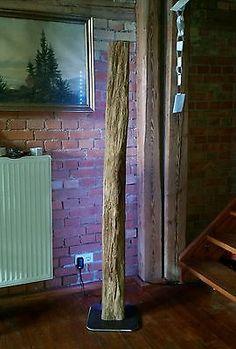 Details Zu Stehlampe Leuchte Alt Eichenbalken Led Lampe Design ... Led Design Wohnzimmer