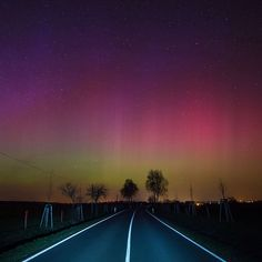 Earlier this week, a strong geomagnetic storm enhanced the aurora borealis, a natural light display caused by charged electrons and protons in the atmosphere. Seen here, the Northern Lights shine over a country road near Lietzen in Maerkisch-Oderland, Germany on March 17, 2015. Photograph by Patrick Pieul—EPA. See the 9 most breathtaking photos of the Northern Lights on time.com/photography.