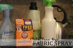 how to make your own febreeze...I would probably use downy fabric softner though...