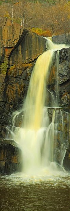 The high falls of the Pigeon River located on the border between Minnesota and Canada