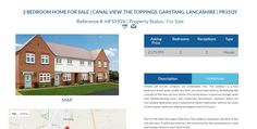 HFS5926 2 BEDROOM HOME FOR SALE Asking Price £179,995 Location CANAL VIEW ,THE TOPPINGS, GARSTANG, LANCASHIRE | PR31QY #2BedroomHome #2Bedroom #Garstang #Lancashire #FreeOnlineEstateAgency #FreePropertyValuation #Ownersellers #SellingYourHouseOnlineForFree #FreeOnlineEstateAgent #HouseForSale