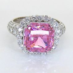 pink diamond ring(perfectly feminine too!) a girl can REALLY DREAM...YEAH!