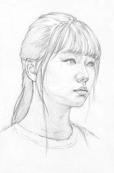 대구화실, 미술, 회화, 정물수채화, 정물소묘, 인체수채화, 인체소묘, 입시미술, 취미미술, 그림 과정작 자료실 Pencil Portrait Drawing, Portrait Art, Pencil Drawings, Art Drawings, Portraits, Drawing Heads, Life Drawing, Drawing Sketches, Painting & Drawing