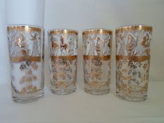 Vintage Mid Century Modery Set of Four Greek by alsredesignvintage, $20.00