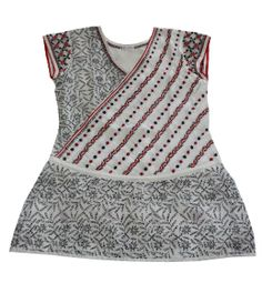Beautiful hand embroidered tunic in shadow and taipchi work with tie to create peplum effect in the front. The diagonal emebroidery with pleats create the slimming effect. Embroidered Tunic, Beautiful Hands, Red And Blue, Peplum, Tie, Embroidery, Tank Tops, Create, Blouse