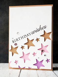 Birthday star card Birthday Star, Girl Birthday, Birthday Cards, Happy Birthday, Kids Cards, Baby Cards, Card Tags, I Card, Star Cards