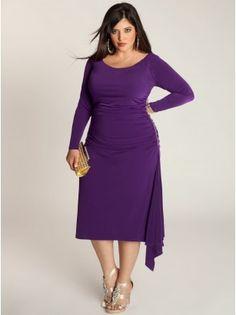 Milan Plus Size Dress in Amethyst - Plus Size Cocktail Dresses by IGIGI