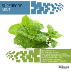 Mint isn't just helpful with bad breath, it's a natural stimulant.