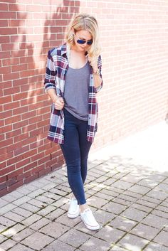 Are you ready for fall? Well you will be in this perfect plaid long sleeve…