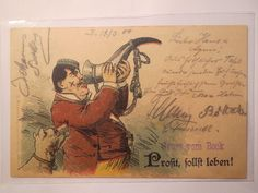 Student Trinkt Horn 1900 Hund Prosit Sollst Leben Studentika | eBay