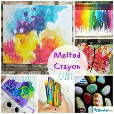 Melted Crayon Crafts-jpg   http://www.tipjunkie.com/post/melted-crayon-crafts/