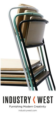 We love stackables! Check out the Transit Chair from Industry West.