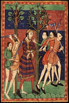 In 869 the kingdom of East Anglia fell to the Great Heathen Army. The Anglo-Saxon Chronicle's account of the conflict reveals that the Vikings took up winter quarters at Thetford, where they fought and destroyed the East Anglian army and killed King Edmund.