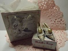 Hand Crafted Dolls House Miniature Silk Brocade Shoes by OdinsMiniatures on Etsy Diy Dollhouse, Dollhouse Miniatures, Silk Brocade, Shoe Boots, Shoes, Decorative Boxes, Dolls, Leather, Crafts