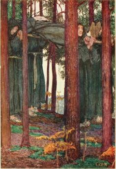Eleanor Fortescue Brickdale - The gathering of Brother Hilarius
