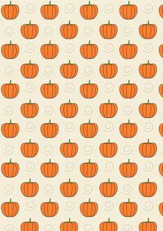 Pumpkin and swirls iPhone background