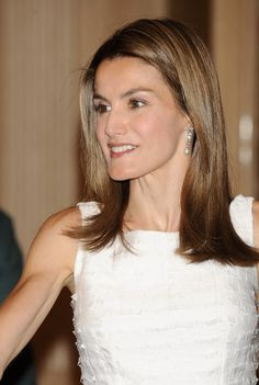 Her Royal Highness Doña Letizia, Princess of Asturias, Princess of Viana, Princess of Girona, Duchess of Montblanc, Countess of Cervera and Lady of Balaguer.