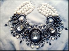 """La petite robe noire"" 2014. Tamuna Lezhava Russian bead artist"