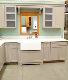 Kitchen Renovation w/o the weird mirror, of course.  Martha Stewart Ox Hill.