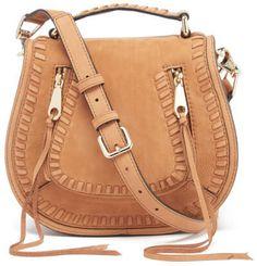 Rebecca Minkoff Women's Small Vanity Saddle Bag Almond