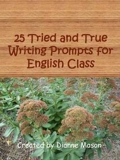 These 25 writing prompts will get your students thinking and writing. Seven of the prompts are specific questions, but the rest are flexible and can be adapted to suit whatever topic or reading the class is discussing. Many of these prompts can lead to more formal essays later on. Included are suggested books and websites for even more ideas for writing prompts. Check out the preview for samples. $1.00