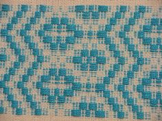 Overshot Sampler 2  Cat's track threading, border pattern  ABCDADCB  5/2 cotton pattern weft  by labestor