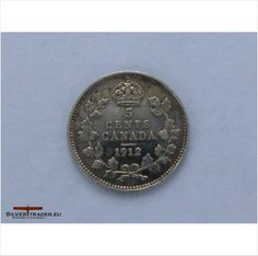 1912 Canadian Silver 5 cent coin on eBid United Kingdom