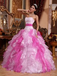d22bdac2a1 Buy multi colored strapless ruffled beading quince dresses with ribbon from  lovely quinceanera dresses collection