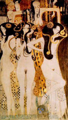 (detail from Beethoven Frieze) Gustav Klimt. 1902]