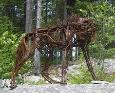 university of new hampshire museum of art linda chestney artes fine arts magazine Sculptor, Wendy Klemperer: 'Restraint and Release' in Nature's Realm University Of New Hampshire, Metal Artwork, Magazine Art, Art Museum, Sculpture Art, Metal Working, Beast, Wolf, Nature