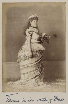 Marriage in the 1890s   File:Fanua in her wedding dress, Samoa, ca 1930s.jpg - Wikimedia ...
