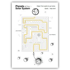 SOLAR SYSTEM LABYRINTH - TeachersPayTeachers.com List Of Resources, Teacher Resources, Teaching Ideas, Solar System Worksheets, Cub Scout Crafts, Critical Thinking Activities, Astronomy Science, Fall Cleaning, Connect The Dots