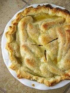 a hint of honey: Pear Butterscotch Pie Pie Recipes, Fall Recipes, Sweet Recipes, Christmas Recipes, Clean Eating Recipes, Clean Eating Snacks, American Apple Pie, Butterscotch Pie, Pear Pie