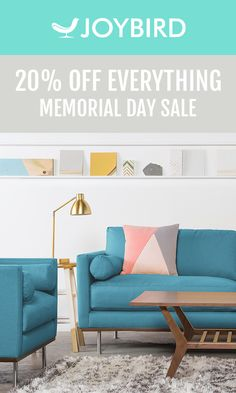 Why be generic when you can stand out with Mid Century Modern furniture from Joybird? Save 20% on EVERYTHING right now during our Memorial Day Sale! All Joybird furniture comes with a 365-day home trial & lifetime warranty!