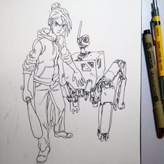 """""""#inktober 29/31  May be more I'll do to this one..."""" ★ 