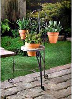 Patio Bistro Chair Planter