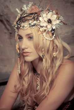 Mermaid's Head dress- I wish there were ever an occasion to wear a crown.