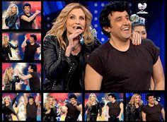 Flavio Insinna e Lorella Cuccarini ballano Grease: collage di foto