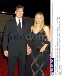 Открытие сезона в концертном зале Уолта Диснея, Лос Анжелес, 23 октября 2003. На фото: актер Брендан Фрейзер (Brendan Fraser) с женой Эфтон Смит (Afton Smith).