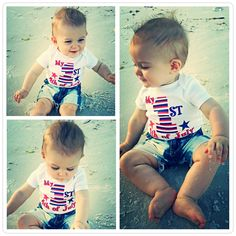 FREE shipping in the USA Liv & Co.™ brings you the very best in baby bodysuits and t shirts and this adorable patriotic baby one piece & shirt is a must have for your baby's first 4th of July! There isn't a better baby shower gift than this sweet, gender neutral baby one piece, as every baby will experience their first July fourth! This also makes a great gift for your Military parents & families!