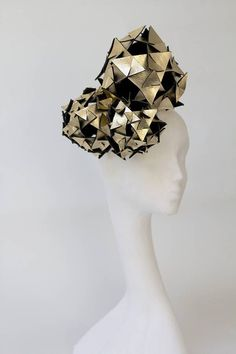 metallic leather origami trio headpiece by the headmistress | notonthehighstreet.com