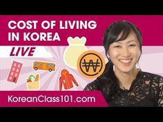 Cost of Living in South Korea Living In Korea, Korean Lessons, Korean Language Learning, Cost Of Living, Learn Korean, Replay, Learning Resources, South Korea, Thursday