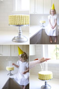 How to perfectly frost a scalloped cake. Via OhHappyDay