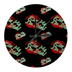 Kiss Me I'm Irish Clock - Black