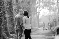 Engagement shoot on old railway path in Wetherby | Yorkshire wedding photography by www.colinmurdochstudio.com