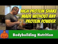 Home Made Protein Shakes Without Using Protein Powder - YouTube