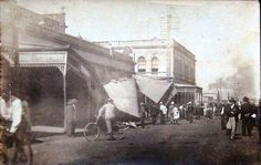 https://flic.kr/p/qeok6N | Whoops! | This photo was taken in Maryborough, Queensland in 1907 and fits the description of an incident involving a horse in Bazaar Street. Newspaper article describes the occurrence. trove.nla.gov.au/ndp/del/article/148475995